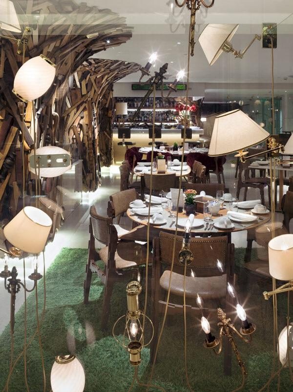 Lamp screen New taste restaurant