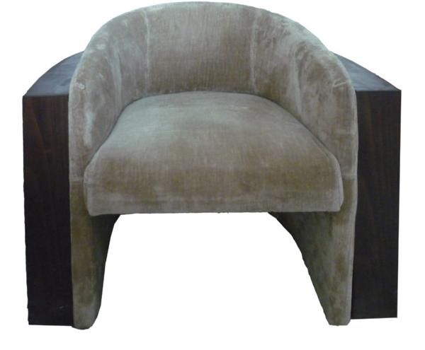 Wooden Box Beige Chair
